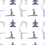 Yoga poserar den sömlösa modellen Royaltyfria Foton