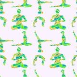 Yoga poserar den sömlösa modellen Royaltyfri Bild