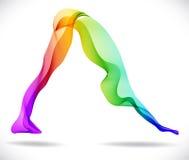 Yoga poserar, gör sammandrag färgbakgrund vektor illustrationer