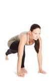 Yoga poserar i studio Royaltyfri Fotografi