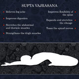 Yoga poserar infographicsen, fördelar av övning Royaltyfria Foton