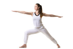 Yoga poserar krigare 2 Arkivbild