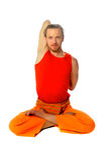 Yoga poserar - lotusblomma Royaltyfri Fotografi