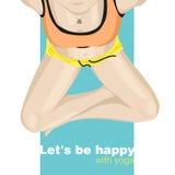 yoga poserar med arga ben Royaltyfria Bilder