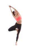 Yoga poserar Vrikshasana Royaltyfri Fotografi