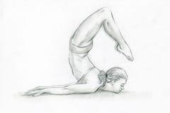 Yoga poses-2 Stock Photos