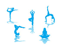 Yoga Poses Royalty Free Stock Photography