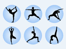 Yoga poses royalty free illustration