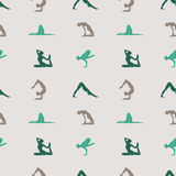 Yoga poses background. Stock Photography