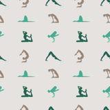 Yoga poses background. Stock Photography