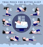 Yoga poses for better sleep Royalty Free Stock Photography