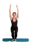 Yoga poses and exercises. Attractive woman doing yoga exercises Stock Photography