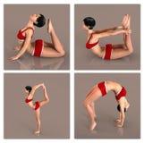Yoga poses female Stock Images