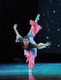 Yoga poses-Folk dance Stock Photography