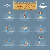 Yoga poses icons Stock Photography