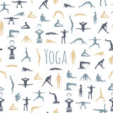 Yoga poses with props in vector. Stock Photo