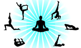 Yoga poses set Royalty Free Stock Photo