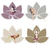 Yoga Poses set Stock Photos