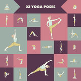 23 yoga poses Stock Photography
