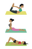 Yoga poses set Stock Photo