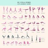 Yoga poses stick figure set Royalty Free Stock Photo