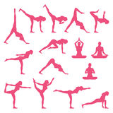 Yoga Poses. Vector and Illustration Stock Photo