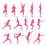 Yoga Poses. Vector and Illustration Stock Photography