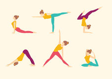 Yoga Poses. Vector illustration Stock Images