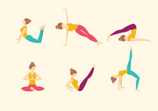 Yoga Poses. Vector illustration Stock Photos