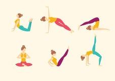 Yoga Poses. Vector illustration Stock Photos