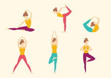 Yoga Poses. Vector illustration Royalty Free Stock Photography