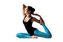 Yoga posing Stock Image