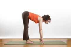 Yoga position Royalty Free Stock Image