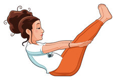 Yoga Position. Funny cartoon and vector isolated illustration Stock Images