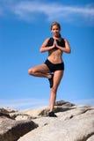 Yoga position Royalty Free Stock Photo