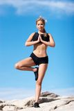 Yoga position Stock Images