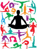 Yoga Positions. Vector yoga positions (please visit my portfolio for more Royalty Free Stock Photo