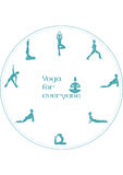 Yoga positions for everyone. Vector image (graphic) with yoga positions for people Royalty Free Illustration