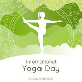 Yoga poster with woman in yoga pose Royalty Free Stock Image