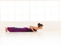 Yoga posture demonstration Stock Photography