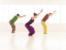 Yoga posture Utkatasana Stock Image