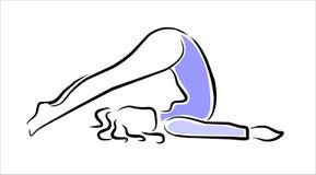 Yoga posture Stock Photography