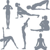 Yoga postures Stock Photo