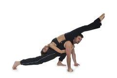 Yoga pour deux - série Photos stock