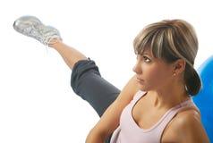 Yoga practicante de la deportista Foto de archivo libre de regalías