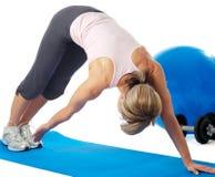 Yoga practicante de la deportista Imagen de archivo