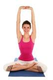 Yoga practicante de la mujer Imágenes de archivo libres de regalías