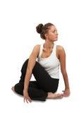 Yoga practicante hermosa de la mujer joven Fotografía de archivo
