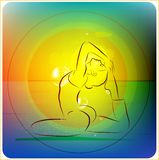 Yoga practice Royalty Free Stock Images