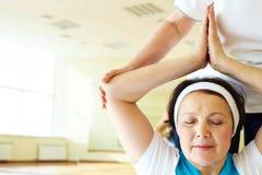 Yoga practice Royalty Free Stock Photo